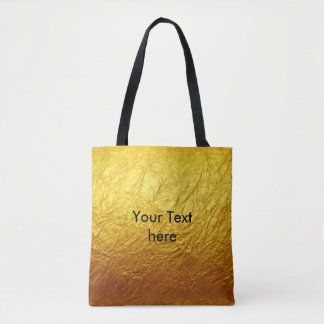 PURE GOLD PAPER Pattern + your text / photo Tote Bag