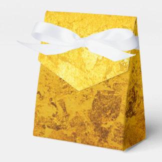 PURE GOLD pattern / gold leaf Wedding Favor Box