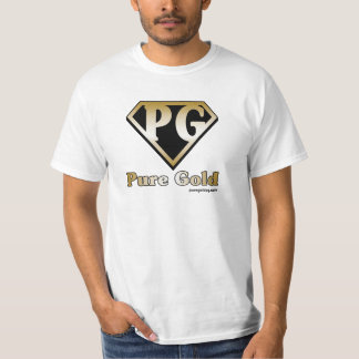 Pure Gold with text T-Shirt