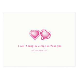 Pure heart and Shy heart Postcard