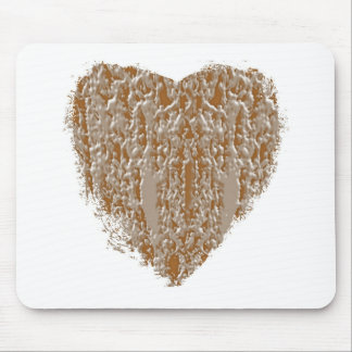 PURE Heart - Gold n Silver Engraved design Mouse Pad