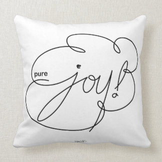 pure JOY - Bold CloudS Throw Pillow