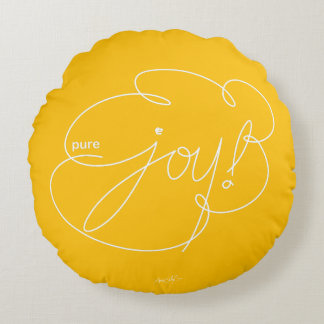 pure JOY - Bold CloudS - W Round Pillow