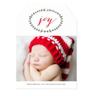 """Pure Joy Holiday Photo Card 5"""" X 7"""" Invitation Card"""