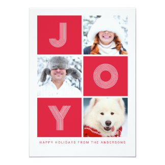 Pure JOY | Red Holiday Photo Card