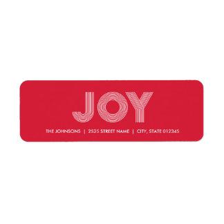 Pure JOY | Red Holiday Return Address Label