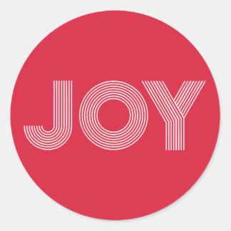 Pure JOY | Red Holiday Round Sticker