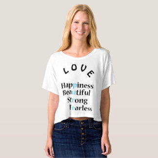 Pure Love Crop (Tiffany Blue text ) T-shirt