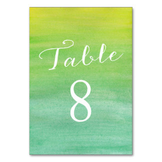 Pure Love Table Number Cards / Lime Emerald