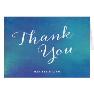 Pure Love Wedding Thank You Cards / Ocean Blue