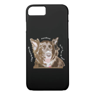Pure of Heart Rescue Dog Quote iPhone iPad Case