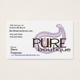 Pure Paisley Logo, Dena Freeman, 228 3rd Ave. N... Business Card