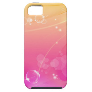 Pure pink abstract background glowing iPhone 5 cover