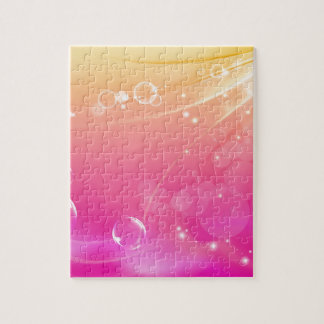 Pure pink abstract background glowing jigsaw puzzle