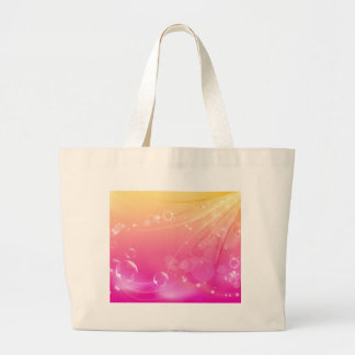 Pure pink abstract background glowing large tote bag