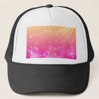 Pure pink abstract background glowing trucker hat