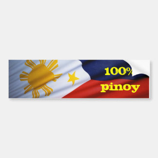 pure products 100% pinoy car bumper sticker