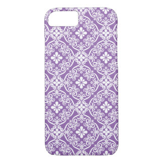 Pure Purple Damask Pattern by Orchard Three iPhone 7 Case