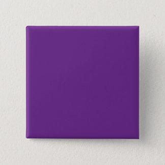 Pure Purple Personalized Trend Color Background 2 Inch Square Button