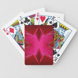 Pure Rose Petal Art - Blood Red n PinkRose Bicycle Playing Cards