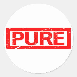Pure Stamp Classic Round Sticker