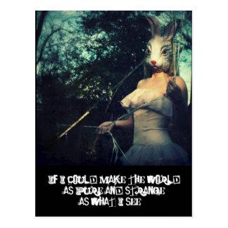 pure strange world postcard