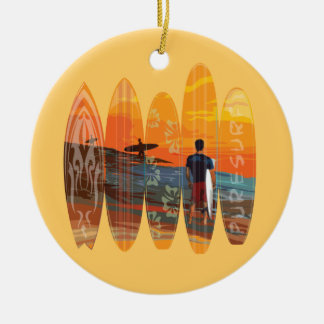 Pure Surfing Ceramic Ornament