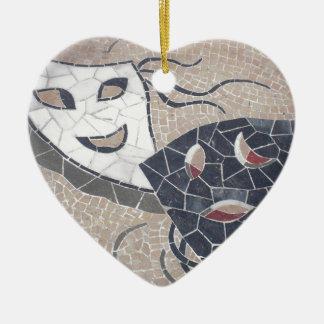 Pure theater ceramic heart ornament