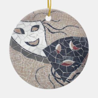 Pure theater round ceramic ornament