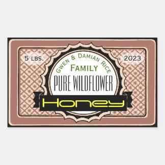 Pure Wildflower Customized Honey Jar Sticker