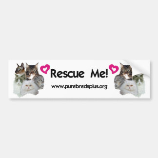 Purebreds Plus Rescue Me Bumper Sticker