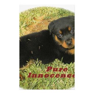 pureinnocence rottweiler puppy custom stationery
