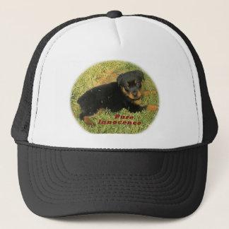 pureinnocence rottweiler puppy trucker hat