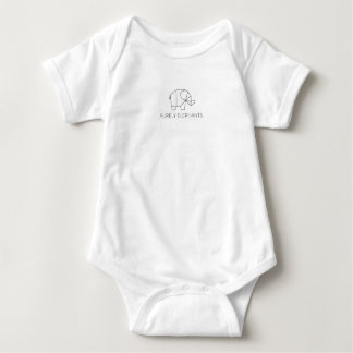 Purely Elephants Baby Bodysuit