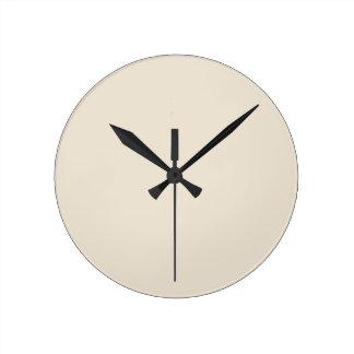 Purely Nostalgic White Color Round Clock