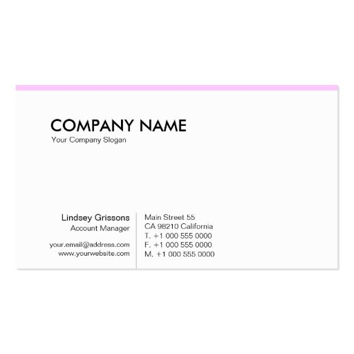 PurePro No12 Light Pink Business Cards