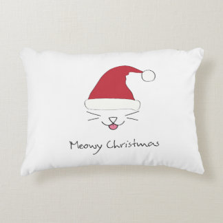 Purfect Meowy Christmas throw pillow holiday gift