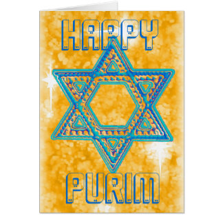 Purim celebration card