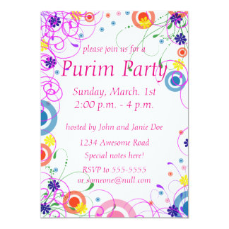 Purim Mask Invitation