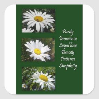 Purity, Innocence and Love Square Sticker