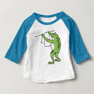 < Purity Japanese style >Polite laundry raglan of Baby T-Shirt