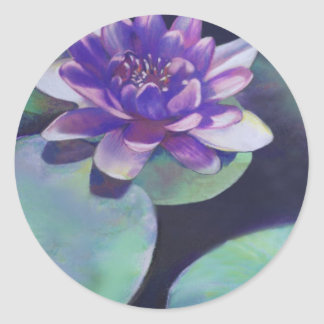 Purity - Waterlily Pastel Classic Round Sticker