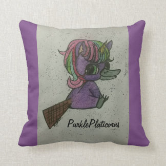 purkle platicorns team mascot pillow