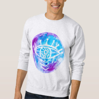 Purle and Blue Tie Dye Third Eye Shirt