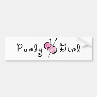 Purly Girl Bumper Sticker