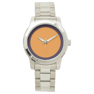 Purpe Outlined Orange Watch