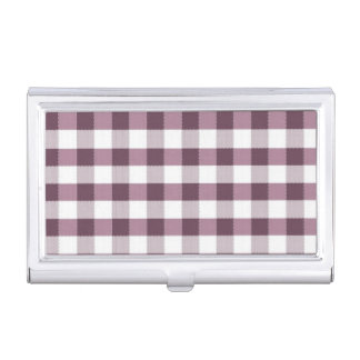 Purpe Table Cloth Pattern Business Card Case