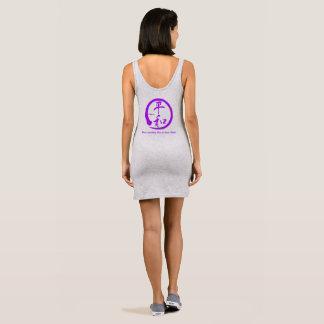 Purpe zen circle • Kanji symbol for peace Sleeveless Dress