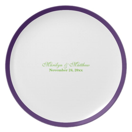 Purpl, Lime, White Guest Signing Plate