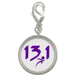 Purple 13.1 half-marathon charm